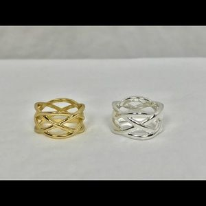 Other - Gold Flashed Sterling Silver Filigree Knot Ring